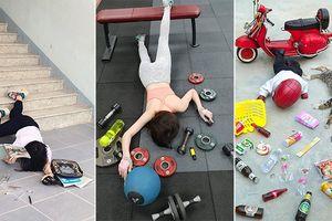 Không chỉ học sinh, dân gym,... các 'boss' cũng đã bị lôi kéo chụp ảnh theo trào lưu lạ
