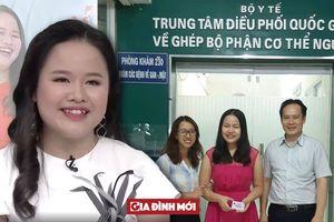 Hiện thực ước mơ trở thành MC của VTV, cô gái khiếm thị đăng ký hiến mô tạng