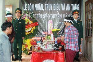 Liệt sĩ Nguyễn Văn Hưng trở về với đất mẹ trong vòng tay yêu thương vô bờ bến