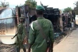 Tai nạn xe bồn ở Congo, 50 người thiệt mạng