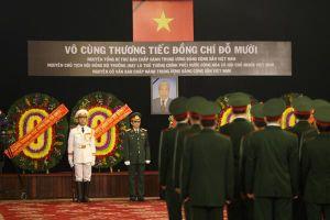 TP.HCM tổ chức trọng thể Lễ viếng nguyên Tổng bí thư Đỗ Mười