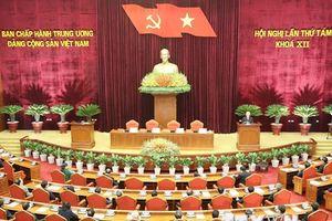 Hình ảnh Bế mạc Hội nghị lần thứ tám Ban Chấp hành Trung ương Đảng