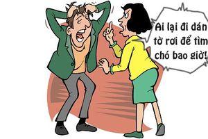 Tối cười: Vợ bất bình với cách chồng tìm cún cưng đi lạc