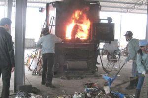 Khí thải độc hại từ các lò đốt rác nhỏ, công nghệ Trung Quốc