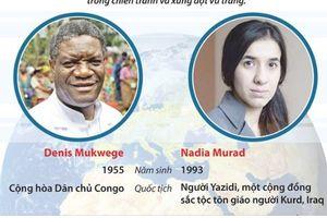 Hai cá nhân xuất sắc giành giải Nobel Hòa bình 2018 là ai?