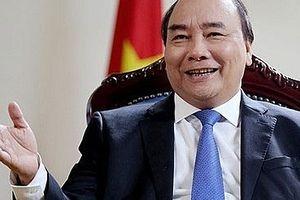 Thủ tướng Nguyễn Xuân Phúc trả lời phỏng vấn báo chí Nhật