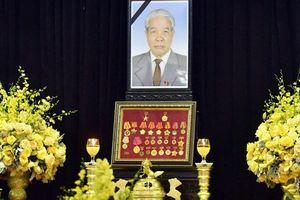 Hình ảnh lễ viếng nguyên Tổng bí thư Đỗ Mười
