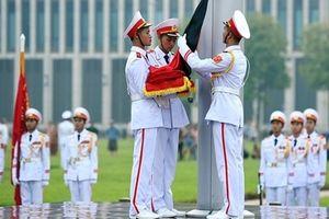 Lễ thượng cờ rủ Quốc tang nguyên Tổng Bí thư Đỗ Mười