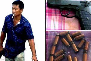 Tịch thu súng, xử phạt con đại gia khai thác cát dọa giết người