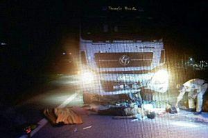 Xe máy đi lấn phần đường va chạm ôtô, 2 người tử vong
