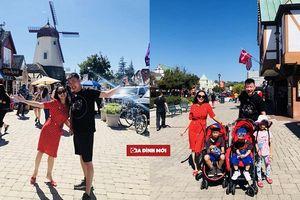 MC Ốc Thanh Vân khoe ảnh hạnh phúc bên chồng và 3 nhóc tỳ tại Mỹ
