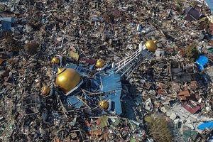 Khoảnh khắc mặt đất 'hóa lỏng', tàn phá Indonesia nhìn từ vệ tinh