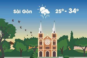 Thời tiết ngày 8/10: Sài Gòn có nắng nóng 34 độ C