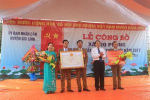 Xã Gio Phong về đích