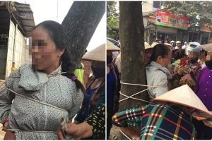Người phụ nữ bị trói vào gốc cây ở Vĩnh Phúc: Do mâu thuẫn mua bán thuốc nam