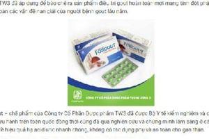 Rủi ro nghe quảng cáo Forgout của Dược Trung ương 3?