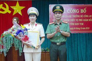 Bộ Công an bổ nhiệm nữ Phó Giám đốc Công an tỉnh Kon Tum