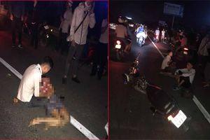 Tai nạn giao thông ở Hưng Yên, người chồng ôm thi thể thai phụ gào khóc thảm thiết