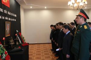 Lễ viếng nguyên Tổng Bí thư Đỗ Mười tại Belarus và Lào