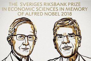 Hai nhà khoa học Mỹ đoạt giải Nobel Kinh tế 2018