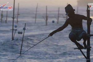 Những người ngồi cọc câu cá cuối cùng ở Sri Lanka