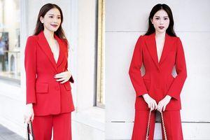 Thời trang 'suit' đang trở thành street style của các quý cô thời thượng