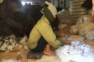 Ẩn họa gối siêu rẻ ruột làm từ vải tái chế