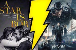 BXH doanh thu Bắc Mỹ (5/10-7/10): 'Venom' đối đầu với 'A Star Is Born', bộ phim nào sẽ giành ngôi vương?