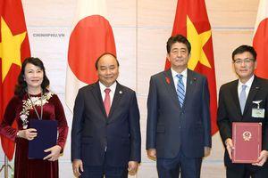 Việt Nam - Nhật Bản ký kết 9 văn kiện hợp tác