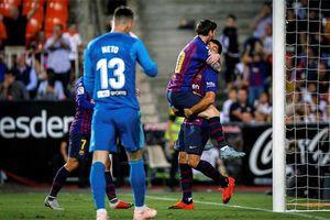 Barca mất vị trí dẫn đầu La Liga