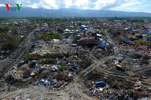 Kinh hoàng hậu quả động đất, sóng thần Palu nhìn từ trên cao