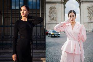 Ngẩn ngơ ngắm nhan sắc kiêu sa của Hoa hậu Tiểu Vy trên đường phố Paris