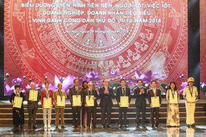 Vinh danh Công dân Thủ đô ưu tú năm 2018