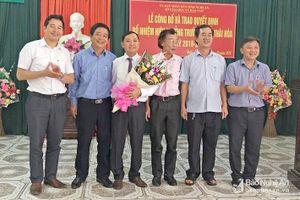 Bổ nhiệm Hiệu trưởng, hiệu phó các Trường THPT ở Thái Hòa và Nghĩa Đàn