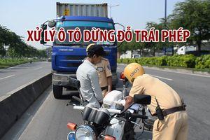 Xử lý ô tô dừng đỗ trái phép trên Xa lộ Hà Nội