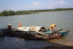 Quảng Nam: Bắt vụ vận chuyển gỗ lậu trên sông Thu Bồn