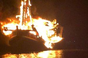 Phú Quốc: Cháy tàu, thiệt hại khoảng 10 tỉ đồng