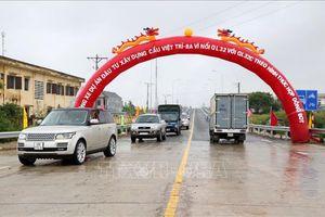 Thông xe cầu Văn Lang 1.460 tỷ đồng nối Hà Nội với Phú Thọ