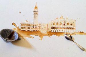 Ngắm những tác phẩm tuyệt đẹp từ trà và cà phê