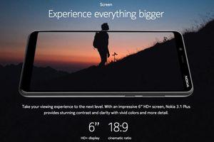Nokia 3.1 Plus ra mắt: màn hình 6 inch, camera kép, pin lớn, giá 3,6 triệu đồng