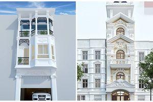 Mê mẩn 10 mẫu nhà phố 3 tầng 1 tum bán cổ điển