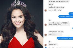 Hoa hậu Diễm Hương tung tin nhắn được 'mời đi uống nước' giá 40.000 USD
