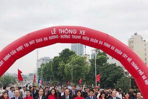Hà Nội chính thức thông xe cầu vượt An Dương - Thanh Niên