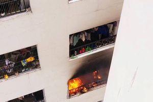 Cháy máy giặt trên tầng 31, hàng trăm cư dân HH Linh Đàm bỏ chạy