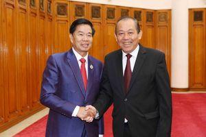 Phó Thủ tướng Thường trực Chính phủ tiếp Bí thư, Đô trưởng Vientiane