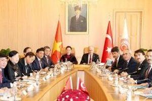 Chủ tịch Quốc hội Nguyễn Thị Kim Ngân hội đàm với Chủ tịch Quốc hội Thổ Nhĩ Kỳ B.In-đi-rim