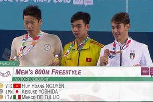 Kình ngư Nguyễn Huy Hoàng giành HCV 800m tại Thế vận hội trẻ