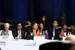 Bế mạc Hội nghị Cấp cao Pháp ngữ, Bộ trưởng Ngoại giao Rwanda Louise Mushikiwabo là Tổng Thư ký OIF