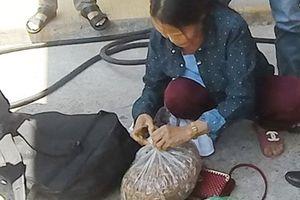 Một phụ nữ giấu ma túy trong túi măng khô