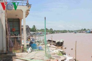 Khu vực Mê Kông đang chìm, đất đang sụt lún 2,5cm/năm